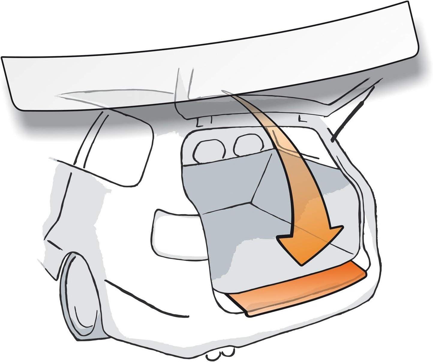 Lackschutzshop Autofolie und Schutzfolie Passform Lackschutzfolie als Selbstklebender Ladekantenschutz transparent 150/µm f/ür Modell Siehe Beschreibung 100/% zugeschnitten robust passend fertig