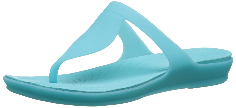 Crocs Damen Damen Crocs Crocsárioáflipáw Sandalen Blau (Pool/Pool) 13849a