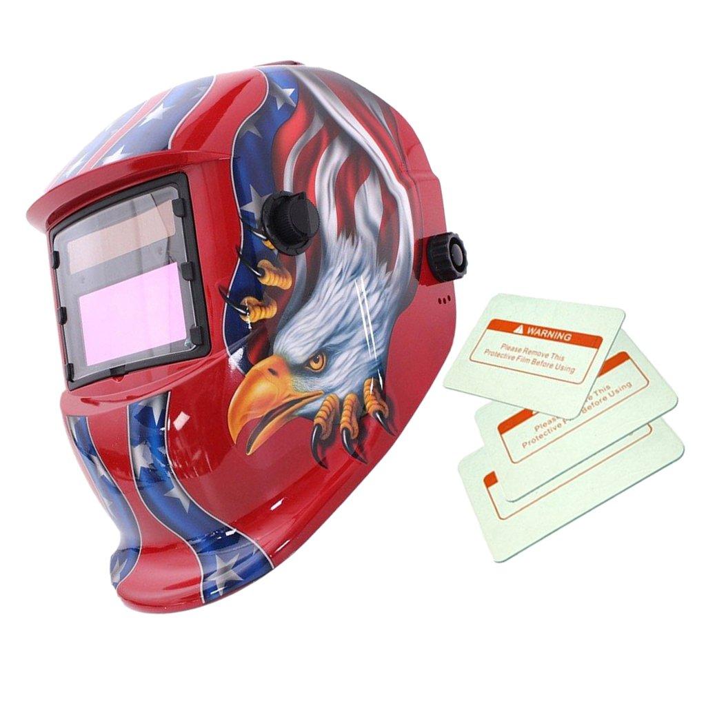 Máscara Automático Soldadura de Oscurecimiento Solar Casco Arco Tig Mig Soldador Patrón