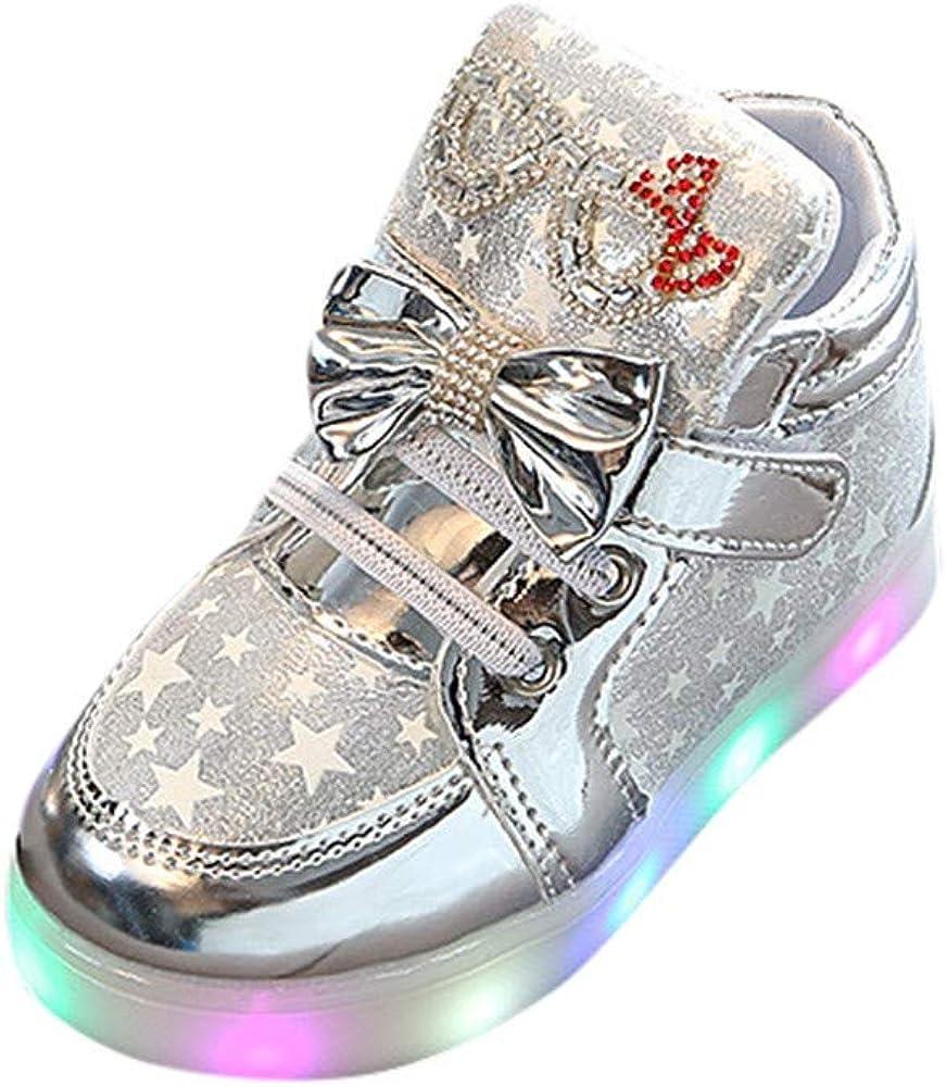 Alaso Chaussures Bébé Botas de niña con luces LED luminosas de ...