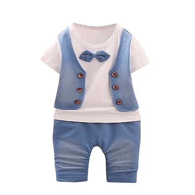 768313a7544d7 MOIKA Enfant en Bas âge Enfants Bébé Garçon Outfits T-Shirt À Manches  Courtes +