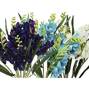 BalsaCircle 216 Silk Freesia Flowers - 4 Bushes - Artificial Flowers Wedding Party Centerpieces Arrangements Bouquets Supplies 30