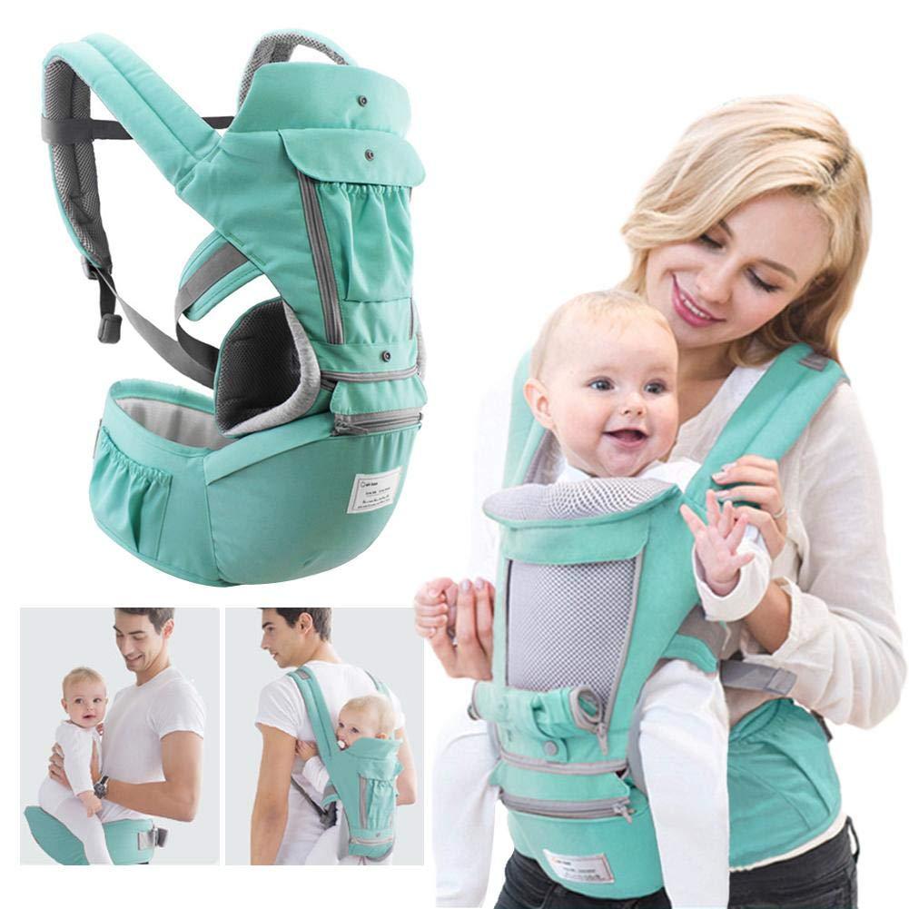 und Neugeborenen-Sitze Opfury Babytrage Soft Sling mit 3D Cool Air Mesh Alle tragen mit H/üftsitz 360 Positionen Passt f/ür ergonomische Kinder 0-3 Jahre alt