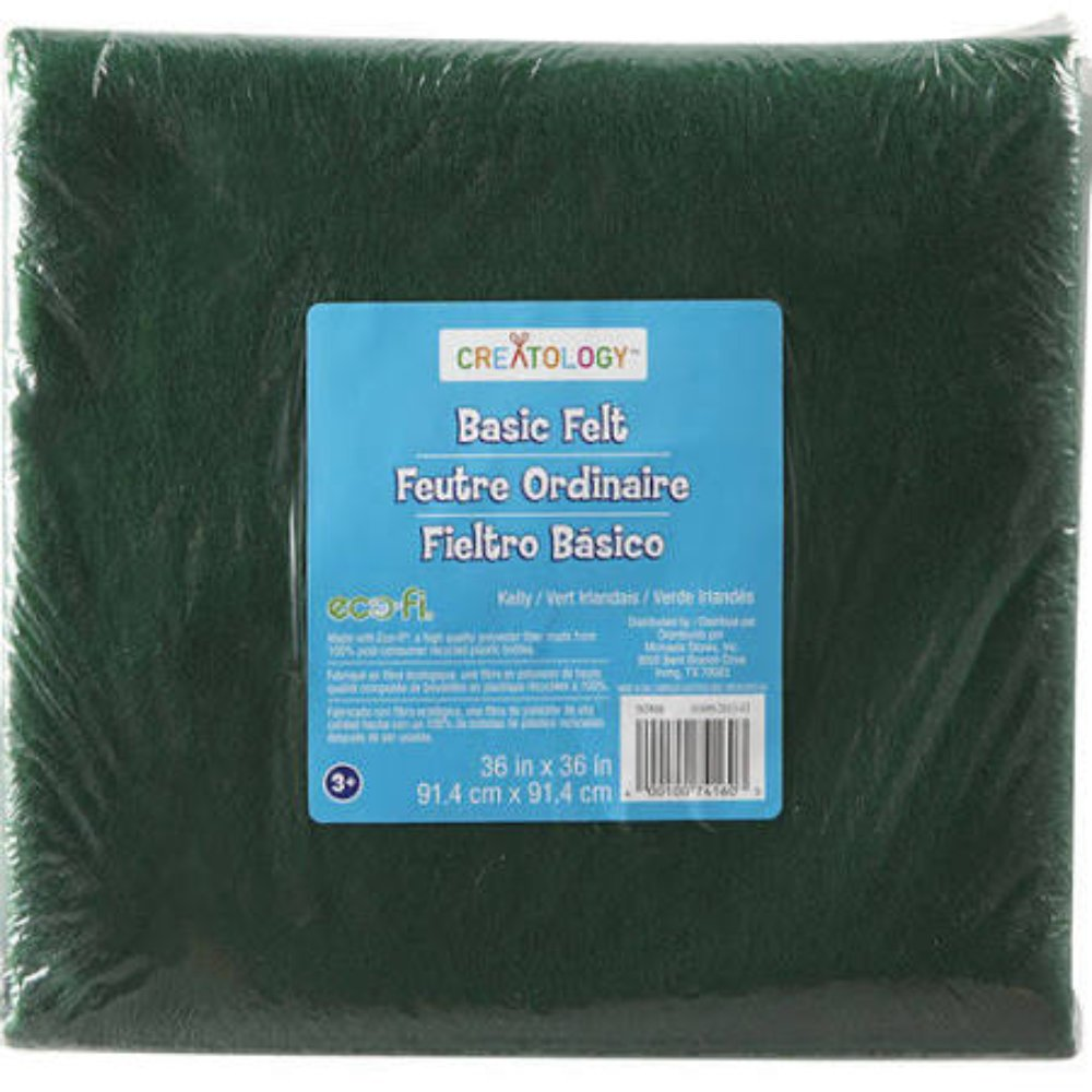 Creatology Kelly Green Basic Felt 36'' x 36''