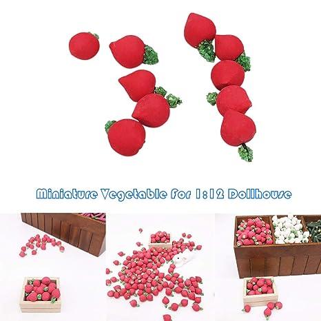TianranRT❄ 10 Piezas 1:12 Dollhouse Miniatura Vegetal ...