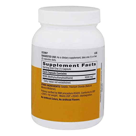 LuckyVitamin - Magnesio 1000 de MSM. - 120 cápsulas: Amazon.es: Salud y cuidado personal