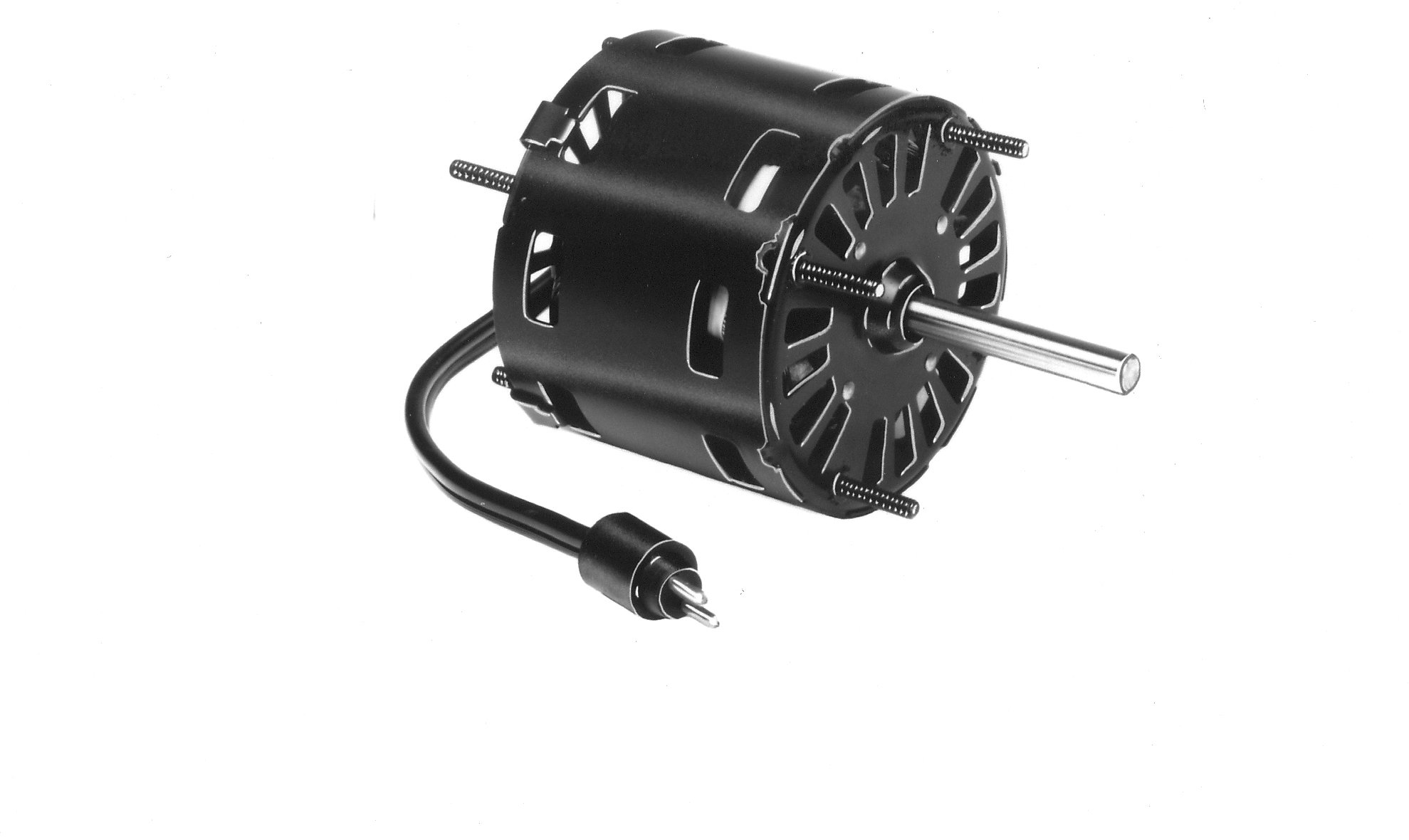 Fasco D1101 3.3'' Frame Open Ventilated Shaded Pole Evaporator Coil and Refrigeration Fan Motor withSleeve Bearing, 1/20HP, 1500rpm, 115V, 60Hz, 1.9 amps