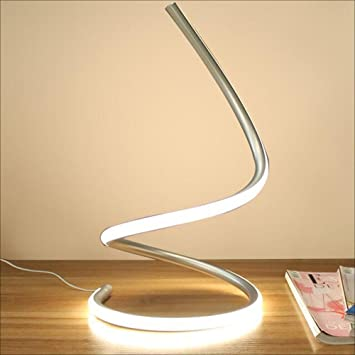 Amazon.com: Hines Modern Spiral LED Table Lamp Desk Light ...