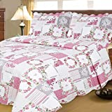 Are There Beds Bigger Than King Size Printed Quilt Sets Queen Plus 102'' by 94'' Hypoallergenic and Super Soft Multi Color - Pattern#1
