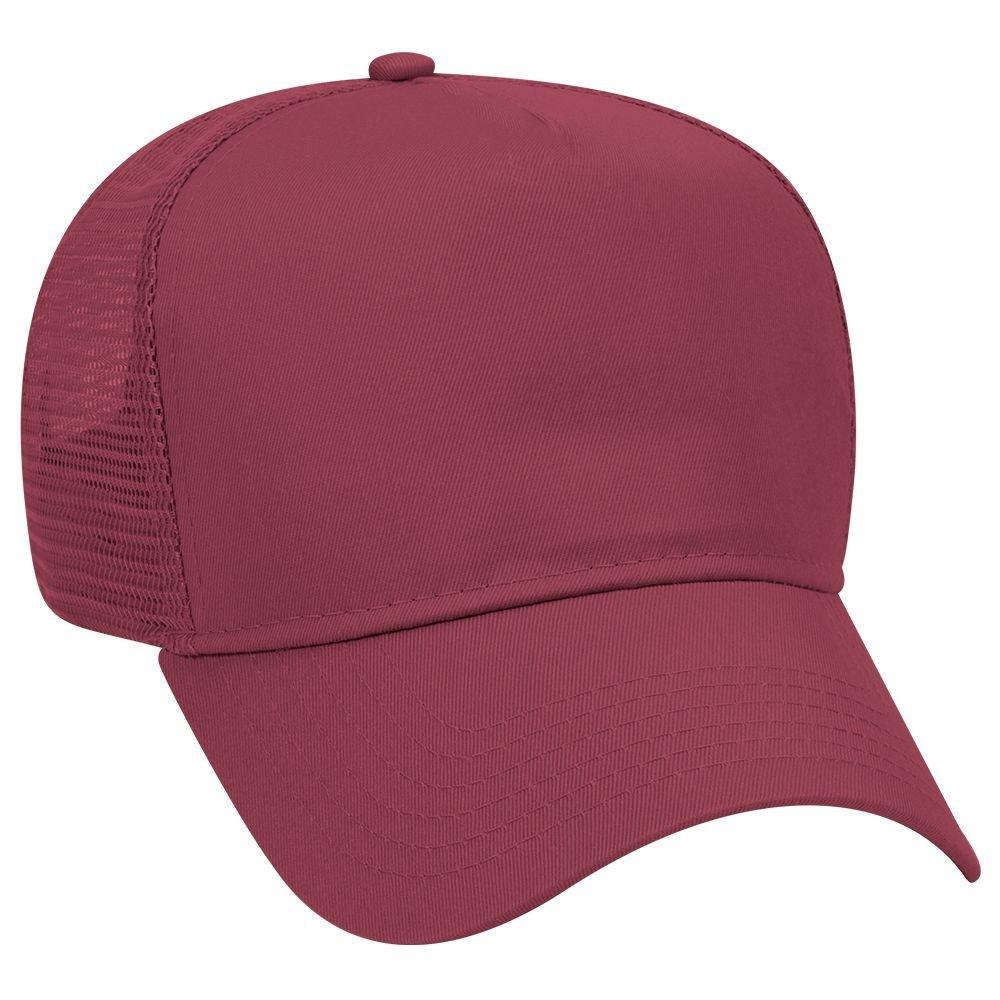Otto Caps OTTO Cotton Blend Twill 5 Panel Pro Style Mesh Back Trucker Hat 32-285-003