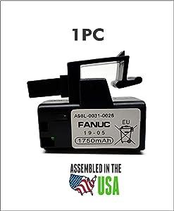 1PC GE Fanuc A98L-0031-0026 / A02B-0309-K102 3 Volt PLC Battery