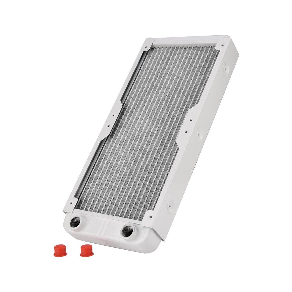 Blanco 360mm LED,etc. Richer-R Cambiador de Calor Radiador de Enfriamiento,G1 // 4 Tubo de Refrigeraci/ón por Agua para PC,Equipos de Belleza,Equipos de Impresi/ón 3D,Purificadores de Aire