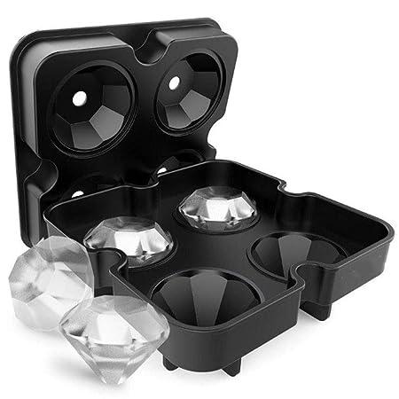 Silicone Diamond Ice Cube, molde de silicona, congelador de hielo ...