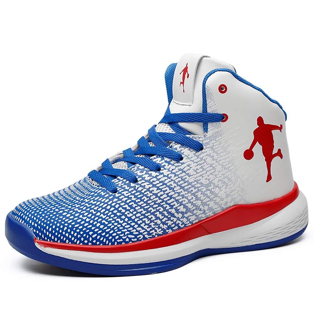 ETYGYH Basketballschuhe, High Elastic Elastic Elastic Shock Technology Sport All Star Leichtgewicht Air Precision Trainer,Blau,42 91d16e
