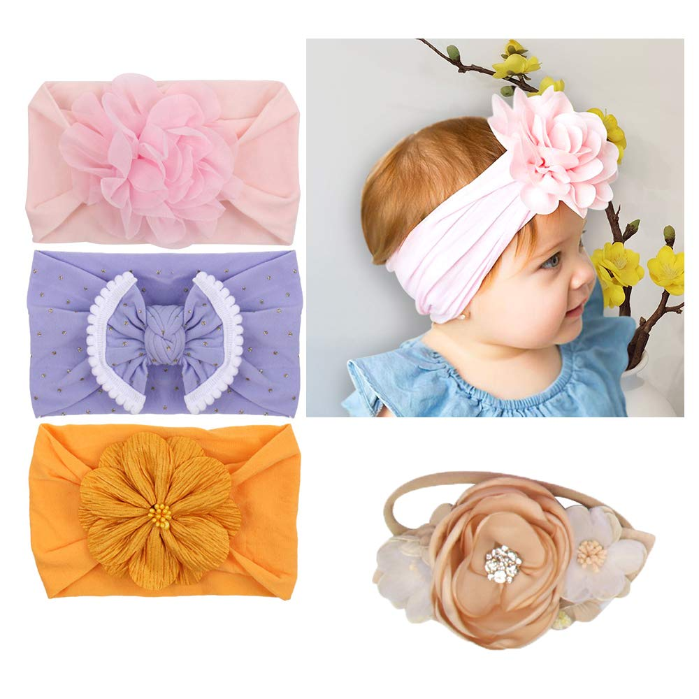 Girls 13 Piece Holiday Baby and Toddler Cotton Headband Set Fits ages 6 Months to 3 Years