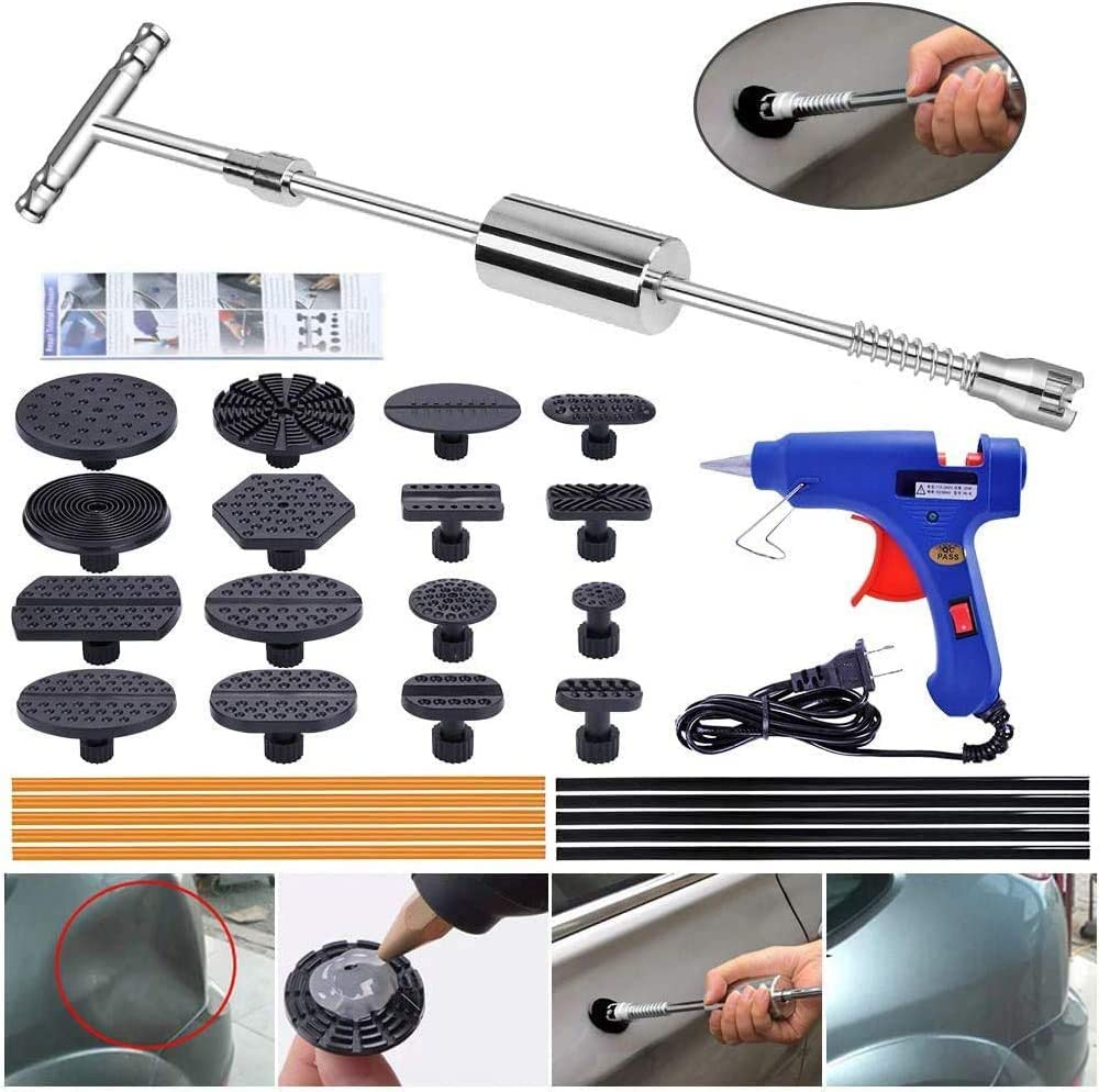 Yoohe Paintless Dent Repair Puller Kit Dent Puller Slide Hammer T Bar Tool With 16pcs Dent Removal Pulling Tabs For Car Auto Body Hail Damage Remover Dent Removal Tools Amazon Canada