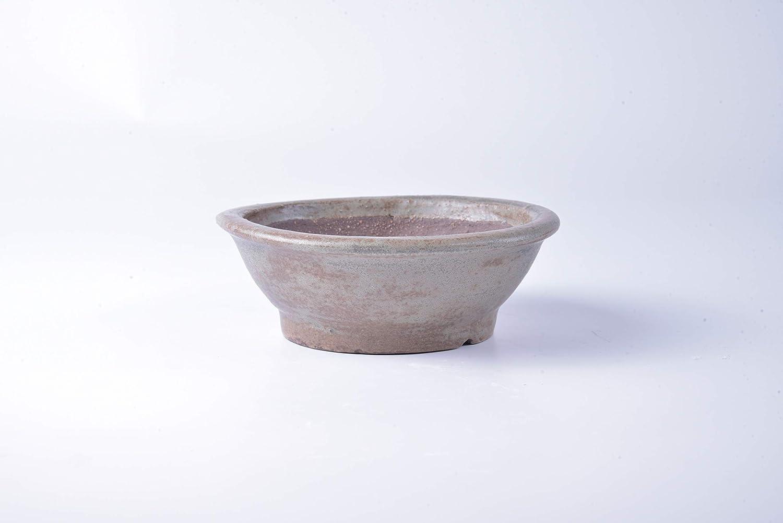 Vaso bonsai artigianale rotondo in gres 27,5 CM Handmade Bonsai Pot