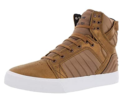 online store 0459a 131ef Supra Men s Skytop Evo Copper Brown White Medium   8.5 C D US