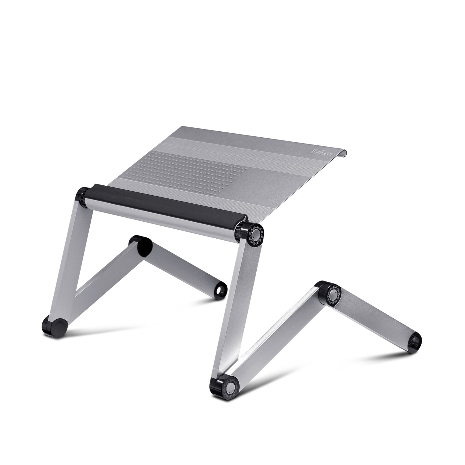 Laptop bed table tray - Amazon Com Furinno A6 Silver Ergonomics Aluminum Vented Adjustable Laptop Portable Bed Tray Silver Kitchen Dining