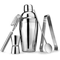5pcs/Set Cocktail Shaker Stainless Steel Bartender Tool Mixer Drink Bar 550ml Bartenders Kit Bars Tools Complete Bar Mixing Set