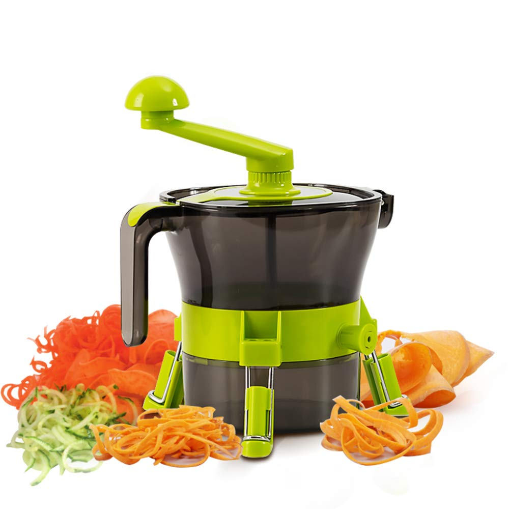 DENGSH Vegetable Slicer,Multi-Function Fancy Cutter,Manual Spiral Winder Practical/As Shown by DENGSH