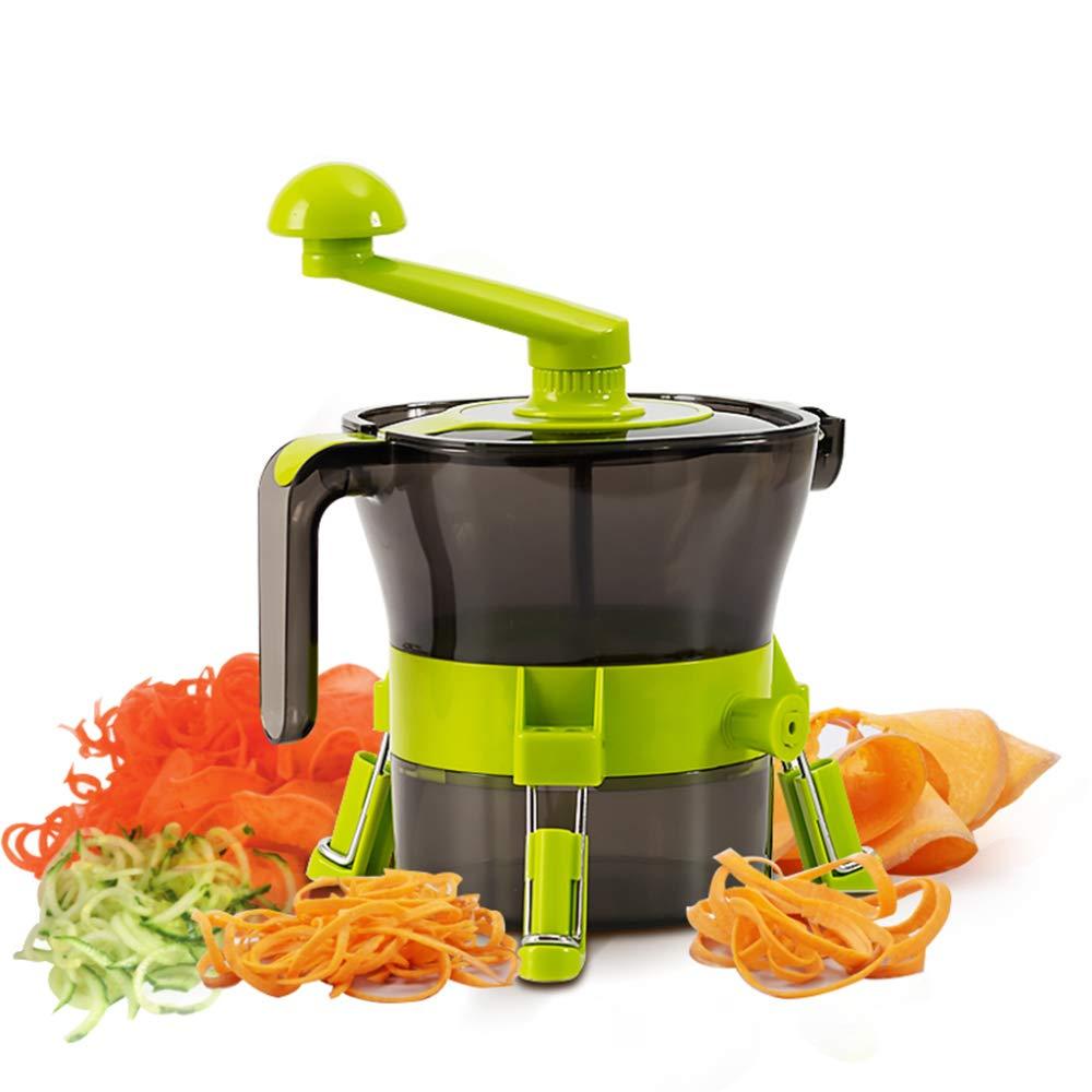 DENGSH Vegetable Slicer,Multi-Function Fancy Cutter,Manual Spiral Winder Practical/As Shown by DENGSH