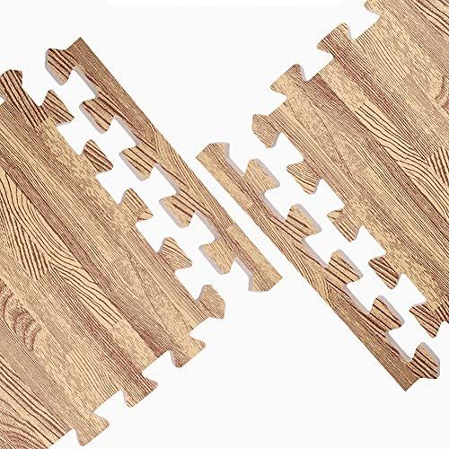 HUIFEIDEYU Baby Puzzle Exercises Mat with PE Foam Interlocking Tiles Split Joint Puzzle Mat Play Creeping Climbing Crawling Game Pad Wood Grain 6pcs//Set 30x30x1cm Brown