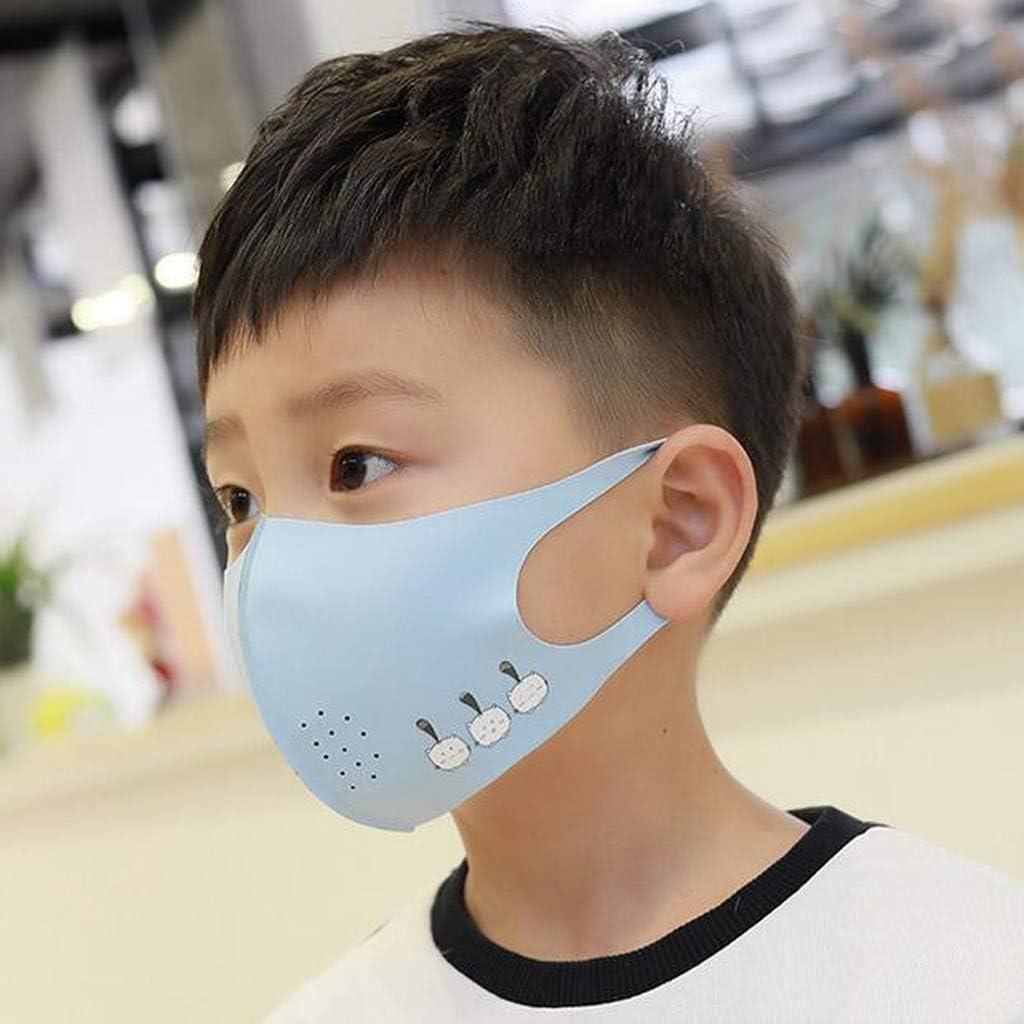 Huaya Mode pour enfants mince impression mignonne Anti-bu/ée lavable enfants couverture de visage lavable Protection d/ét/é r/éutilisable