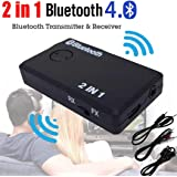 2 in 1 Wireless Bluetooth Sender HARRYSTORE A2DP Empfänger Stereo Audio Musik Adapter mit 2-in-1 Audiokabel 3,5 mm Audiokabel USB Power Kabel