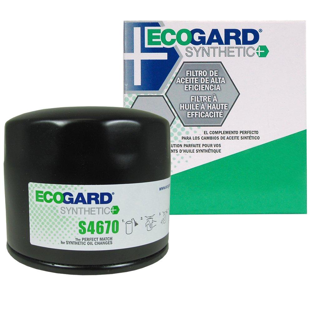 ECOGARD S4670 Spin-On Engine Oil Filter for Synthetic Oil - Premium Replacement Fits Dodge Ram 1500, Dakota, Grand Caravan, Durango, Caravan, Ram 2500, Charger, Intrepid, Magnum, Stratus, D150