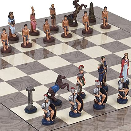 Amazon com: Hand Painted Romans & Egyptian Solid Pewter