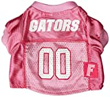 Mirage Pet Products Florida Gators Jersey for Dogs and Cats, X-Small, Pink