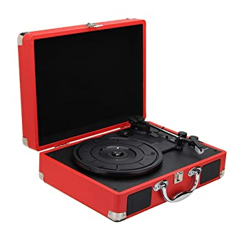 SODIAL Enchufe de La UE 33/45/78 RPM Bluetooth Portátil Giradiscos ...