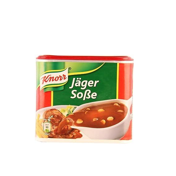 Salsa Alemána de Knorr Hunter (Jäger-Sauce)con sabor aromático