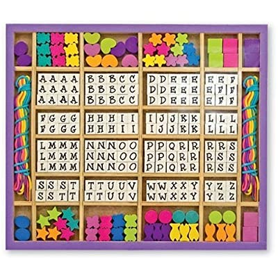 Melissa & Doug Wooden Stringing Beads: Melissa & Doug: Toys & Games