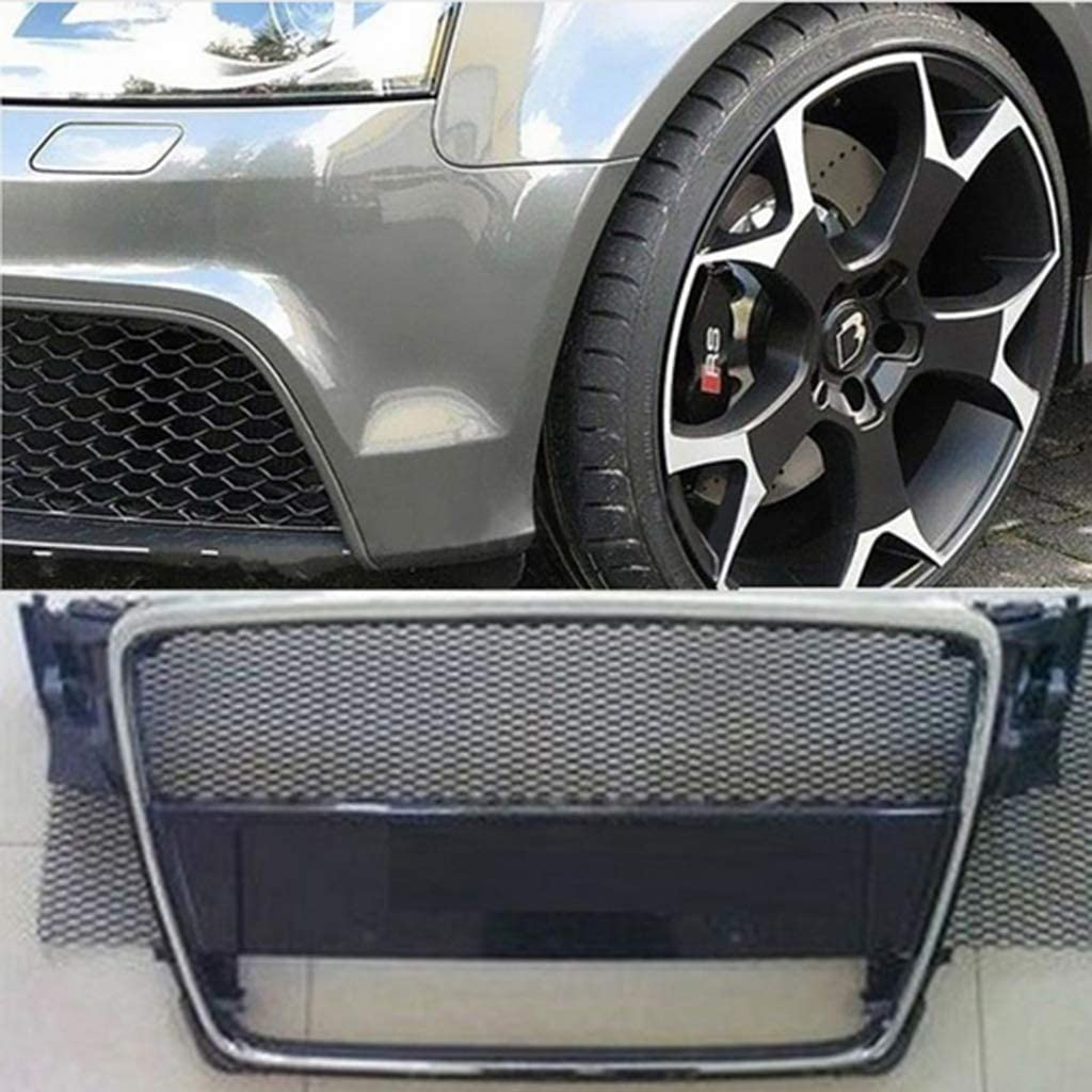 Lanlan 8x25mm Car Grill Grille Vent Mesh Car Aluminum Alloy Front Bumper Seagulls Shape Air Inlet Grill Mesh Sheet Silver