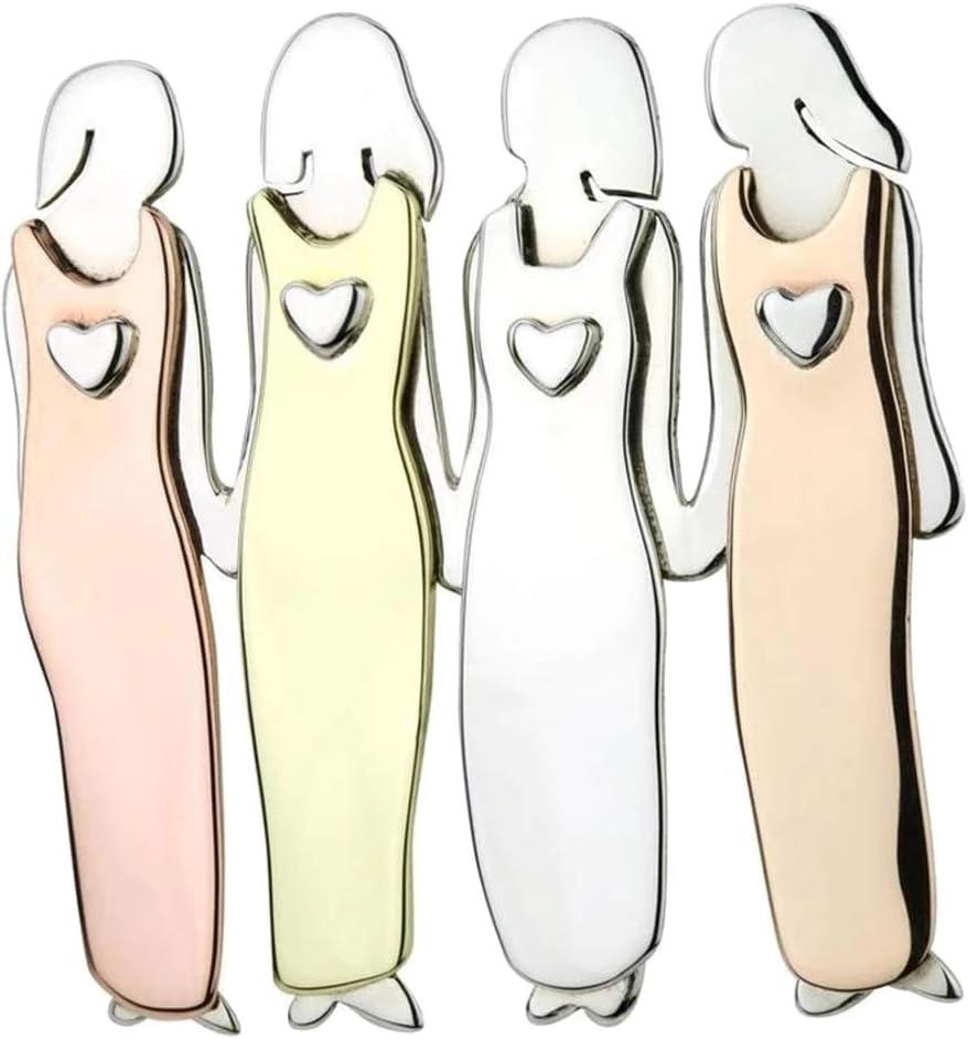 Apoorry Amis S/œur Broche Broche Tri-Color de Sisterhood Broche en M/étal Durable pour Filles Femmes