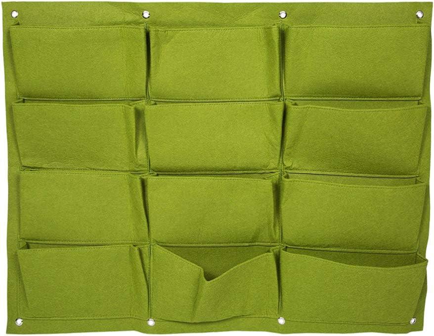 per Piante grasse ed Erbe aromatiche per Decorazione da Parete del Giardino Colore: Verde in Tessuto Non Tessuto DOITOOOL 12 Tasche Vaso Verticale da Parete