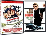Race Action Double Feature Collection Bullitt + Grand Prix 2-DVD Bundle Steve McQueen James Garner