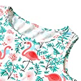 4t 5t Baby Girl Dress 3D Floral Print Green Weed Red Flamingo Animal Graphic for
