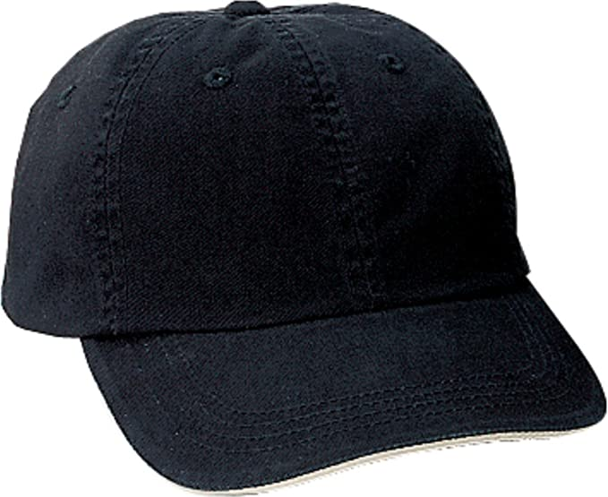 e42af9fd Port Authority Signature Sandwich Bill Cap>One size Black/Khaki C830 ...