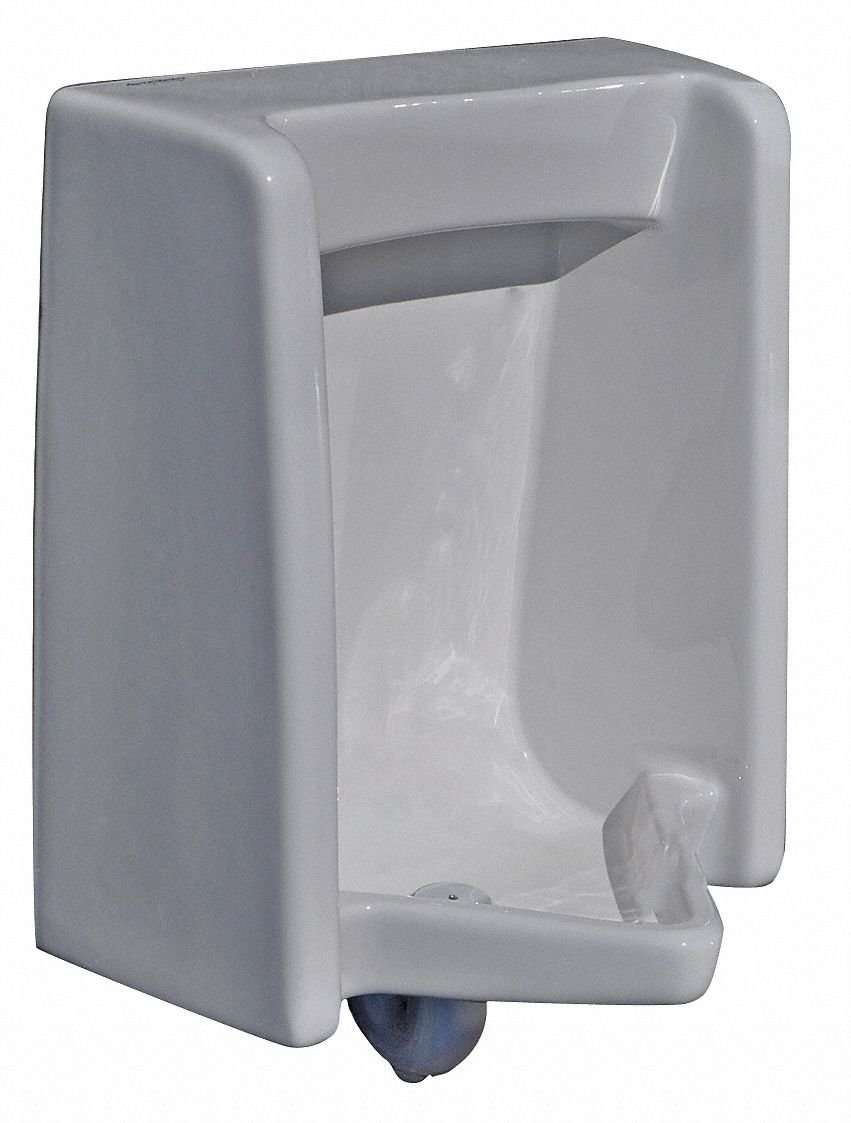 Concealed Inlet Wall Washout Urinal, 0.125 to 1.0 Gallons per Flush, 26-1/8''H x 18-7/8''W, White - 1 Each