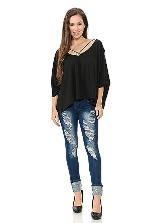 82d805091d Diamante Fashion Women s Blouse · Style D187 at Amazon Women s ...