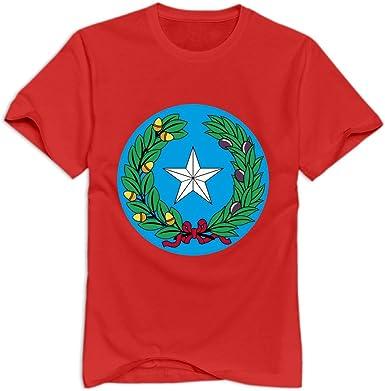 Manga corta Texas símbolos 100% algodón T camisa para hombre, parte superior funda O-Neck T Shirt: Amazon.es: Libros