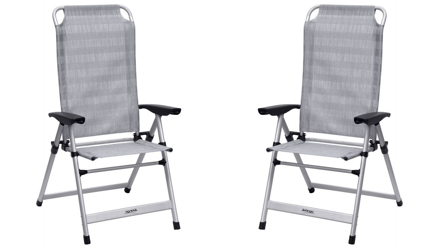 Vango Windsor hoch Stuhl aus Aluminium Aluminium X 2