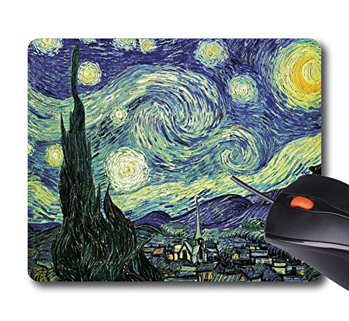 AOFFLY Portfolio Arts Group - Van Gogh-Starry Night - Non-Slip Rubber Mousepad Gaming Mouse Pad