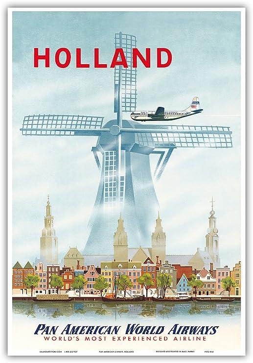 Amazon.com: Holland – Países Bajos Dutch Windmill – Pan ...