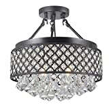 Candice 4-light Semi Flush Mount Crystal Chandelier Review