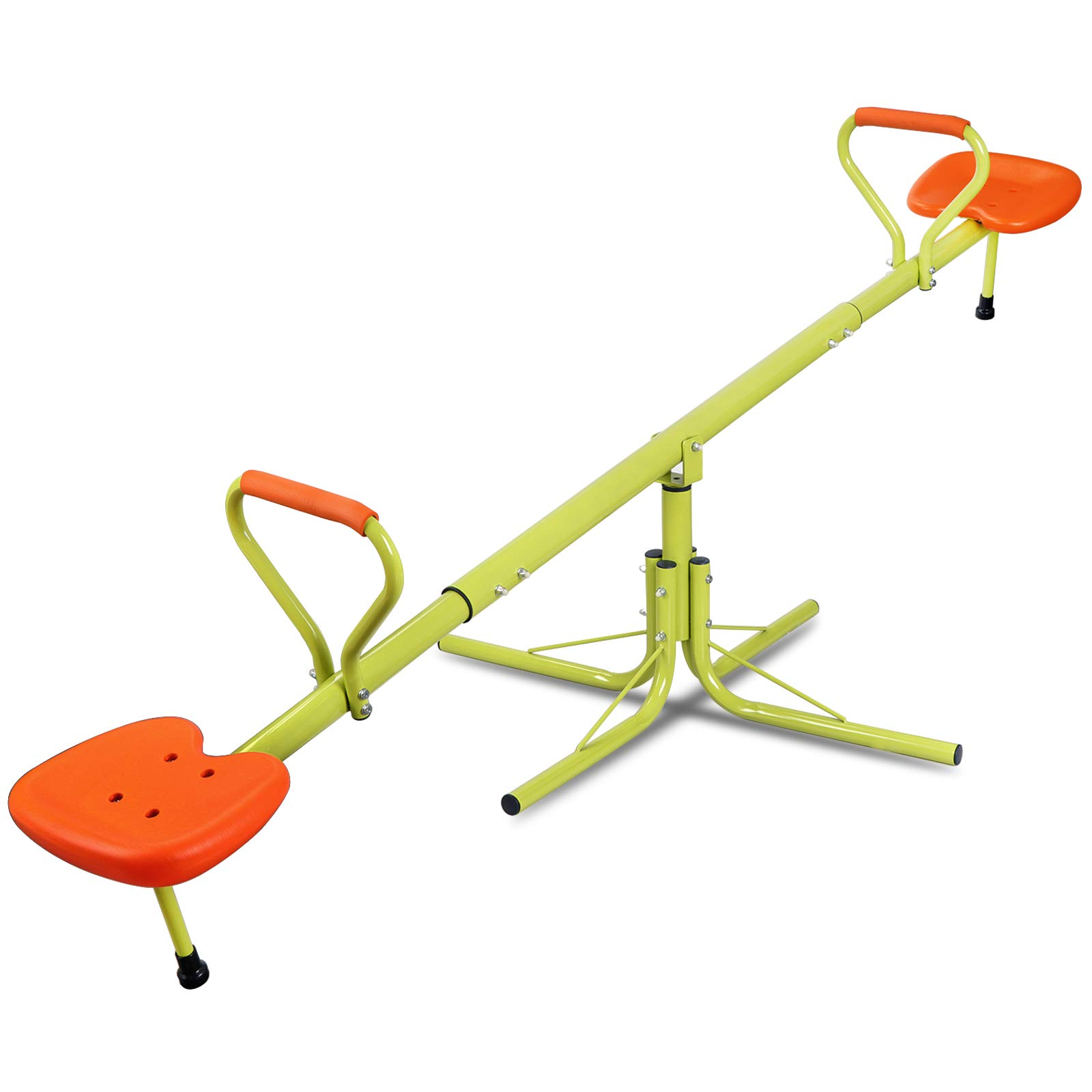 Nova Microdermabrasion Kids Seesaw Swivel Teeter-Totter Home Playground Equipment, 360 Degrees Rotating Safe, Outdoor Fun for Kids, Toddlers, Boys, Children (2 Seats) by Nova Microdermabrasion