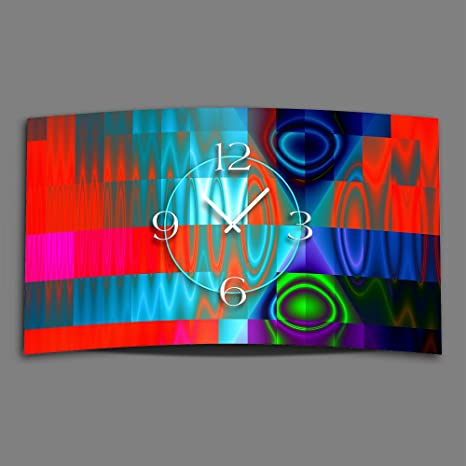 DIXTIME Digital Tipo Techno Diseñador Reloj de Pared Moderno Relojes de Pared Diseño Silencioso sin Tic